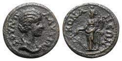 Ancient Coins - Plautilla (Augusta, 202-205). Pisidia, Conana. Æ - R/ Tyche