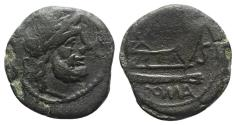 Ancient Coins - ROME REPUBLIC. Anonymous, unofficial series (?), after 211 BC. Æ Semis