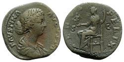 Ancient Coins - Faustina Junior (Augusta, 161-180). Æ Sestertius - Rome - R/ Venus
