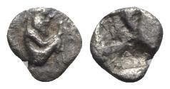 Ancient Coins - Thraco-Macedon, Siris, c. 525-480 BC. AR Eighth Stater – Trihemiobol