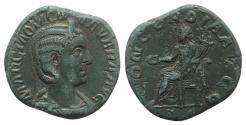 Ancient Coins - Otacilia Severa (Augusta, 244-249). Æ Sestertius. Rome, AD 246. R/ Concordia