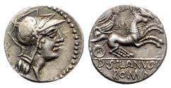 Ancient Coins - Roman Republic - D. Silanus L.f., Rome, 91 BC. AR Denarius