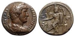Ancient Coins - Hadrian (117-138). Egypt, Alexandria. BI Tetradrachm - year 16 - R/ Serapis