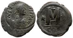 Ancient Coins - Justinian I (527-565). Æ 40 Nummi - Constantinople