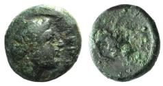 Ancient Coins - Mysia, Plakia(?), c. 4th century BC. Æ 11mm R/ Bull