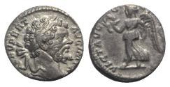 Ancient Coins - Septimius Severus (193-211). AR Denarius. Laodicea, AD 196. R/ VICTORY
