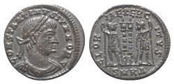 Ancient Coins - Constantine II (Caesar, 316-337). Æ Follis. Cyzicus, 333-4.