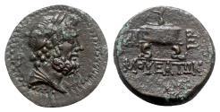 Ancient Coins - Cilicia, Mopsos, 164-27 BC. Æ, Zeus - Altar.