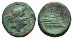 Ancient Coins - ROME REPUBLIC  Anonymous, Rome, 217-215 BC. Æ Semuncia