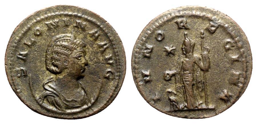 Ancient Coins - Salonina (Augusta, 254-268). Antoninianus - Antioch - R/ Juno