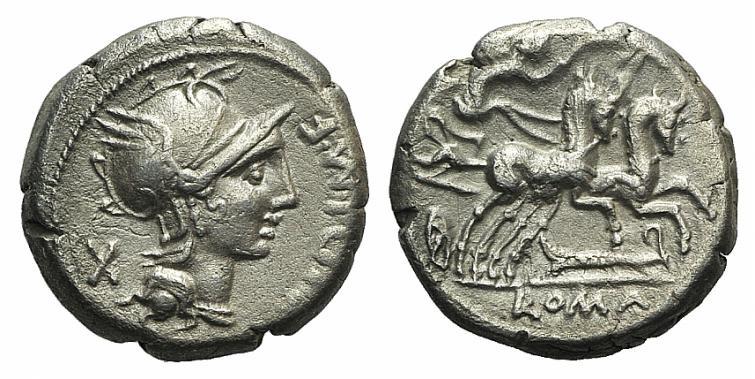 Ancient Coins - Rome Republic M. Cipius M.f., Rome, 115-114 BC. AR Denarius