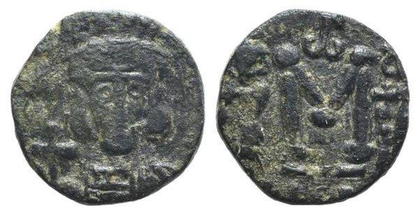 Ancient Coins - Constantine IV (668-685). Æ 40 Nummi - Follis. Syracuse, 668-674. R/ Large M