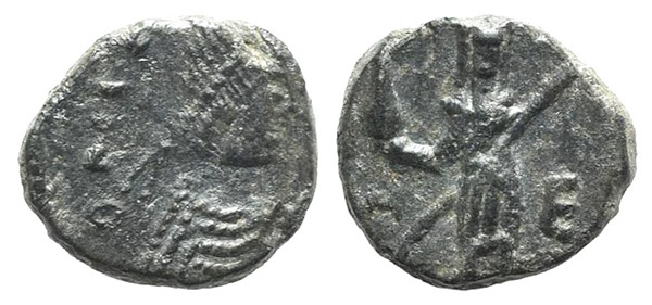 Ancient Coins - Leo I and Verina (457-474). AE 10mm