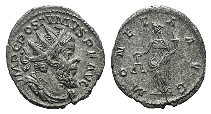 Ancient Coins - Postumus (260-269). AR Antoninianus. Treveri, 263-265. . R/ Moneta
