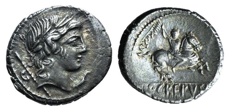 Ancient Coins - Pub. Crepusius, Rome, 82 BC. AR Denarius EXTREMELY FINE