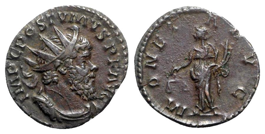 Ancient Coins - Postumus (260-269). AR Antoninianus - Treveri - R/ Moneta
