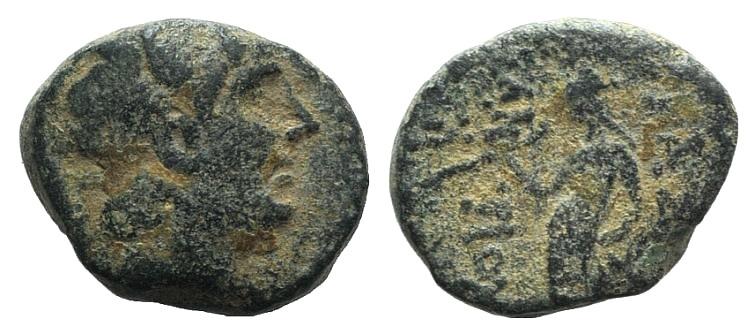 Ancient Coins - Seleukid Kings of Syria. Antiochos IV (175-164 BC). AE 12mm