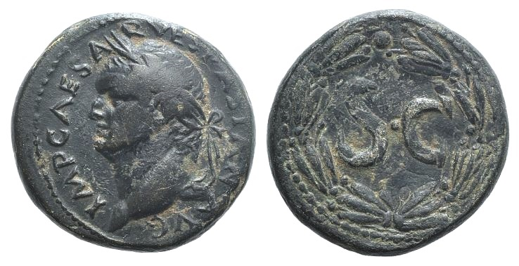 Ancient Coins - Vespasian (69-79). Seleucis and Pieria, Antioch. AE Semis