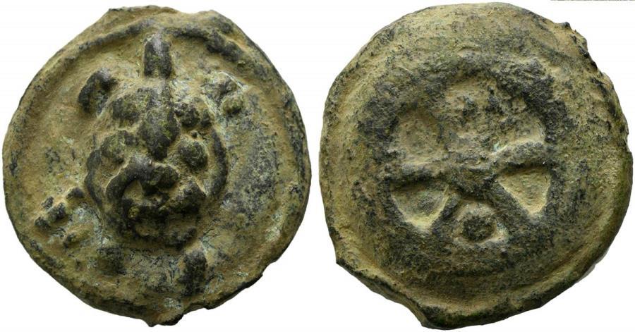 Ancient Coins - Rome Repoublic   Anonymous, Cast Sextans, Rome, ca. 230 BC AE. TOTOISE