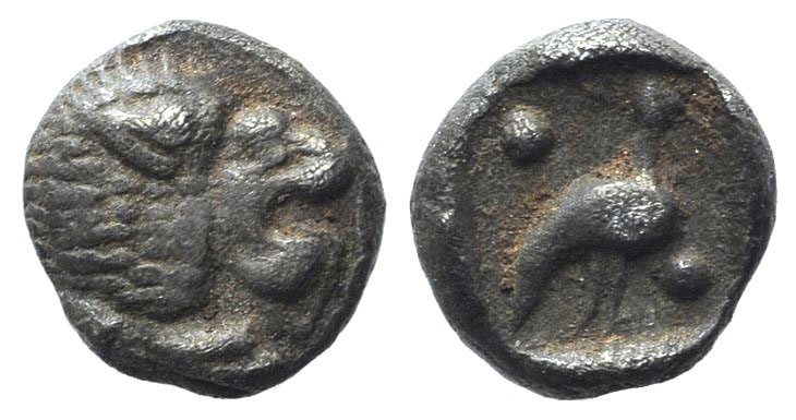 Ancient Coins - Ionia, Miletos, late 6th-early 5th century BC. AR Tetartemorion