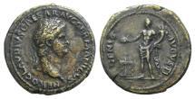 Ancient Coins - Nero. AD 54-68. Æ As. Rome. Struck circa AD 64 R/ GENIUS   VERY RARE