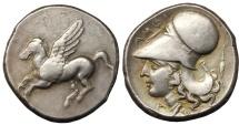 Ancient Coins - AKARNANIA, Argos Amphilochikon. Circa 340-300 BC. AR Stater RARE