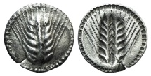 Ancient Coins - ITALY, Southern Lucania, Metapontion, c. 540-510 BC. AR Drachm