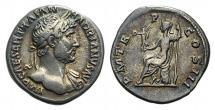 HADRIAN. 117-138 AD. AR Denarius. Struck circa 119-125 AD.