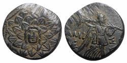 Ancient Coins - Pontos, Amisos, time of Mithradates VI, c. 85-65 BC. Æ - Aegis / Nike