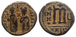 Ancient Coins - Phocas (802-810). Æ 40 Nummi - Antioch, year 5