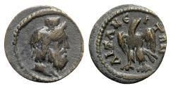 Ancient Coins - Phrygia, Aezanis. Pseudo-autonomous issue, 3rd century. Æ - Serapis / Eagle