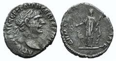 Ancient Coins - Trajan (98-117). Arabia, Bostra. AR Drachm. R/ Arabia