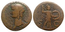 Ancient Coins - Claudius (41-54). Æ As - Rome - R/ Minerva