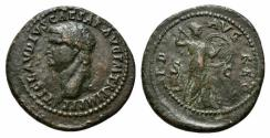Ancient Coins - Claudius, Restoration by Domitian, 81-96 A.D., AE As R/ MINERVA VERY RARE