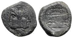 Ancient Coins - L. Rubrius Dossenus, Rome, 87 BC. Æ As