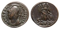 Ancient Coins - Commemorative series, c. 330-354. Æ - Thessalonica - R/ Victory