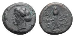 Ancient Coins - Sicily, Syracuse, c. 400 BC. Æ Tetras