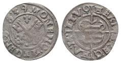 World Coins - LIVONIAN ORDER, Riga. Hermann von Brugenay, 1535-1549 AD. Billon Schilling 1539