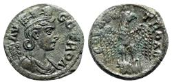 Ancient Coins - Troas, Alexandria. Pseudo-autonomous issue, c. mid 3rd century AD. Æ - Tyche / Eagle