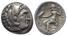 Ancient Coins - Kings of Macedon, Antigonos I Monophthalmos (Strategos of Asia, 320-306/5 BC, or king, 306/5-301 BC). AR Drachm. In the name and types of Alexander III. Teos, c. 310-301 BC.