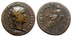 Ancient Coins - Trajan (98-117). Æ Dupondius - Rome - R/ Abundantia