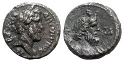 Ancient Coins - Antoninus Pius (138-161). Egypt, Alexandria. BI Tetradrachm - year 14 - R/ Bust of Nilus