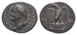 Ancient Coins - Vespasian (69-79). AR Denarius. Rome, AD 76. R/ EAGLE