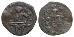Ancient Coins - Andronicus II Palaeologus (1282-1328). Æ Assarion. Thessalonica. St. Demetrius R/ Andronicus