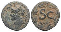 Ancient Coins - Domitian (81-96). Seleucis and Pieria, Antioch. Æ 20mm. R/ Large SC