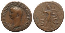Ancient Coins - Claudius. AD 41-54. Æ As. Rome mint. Struck AD 42-43. R/ MINERVA