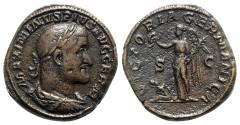 Ancient Coins - Maximinus I (235-238). Æ Sestertius - R/ Victory