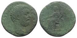 Ancient Coins - Clodius Albinus (Caesar, 193-195). Æ Sestertius. Rome, 194-5.  R/ Fortuna