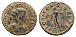 Ancient Coins - Diocletian (284-305). Radiate - Ticinum - R/ Jupiter