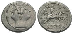 Ancient Coins - Rome Republic Anonymous. 225-212 BC. AR Didrachm  Quadrigatus VERY RARE
